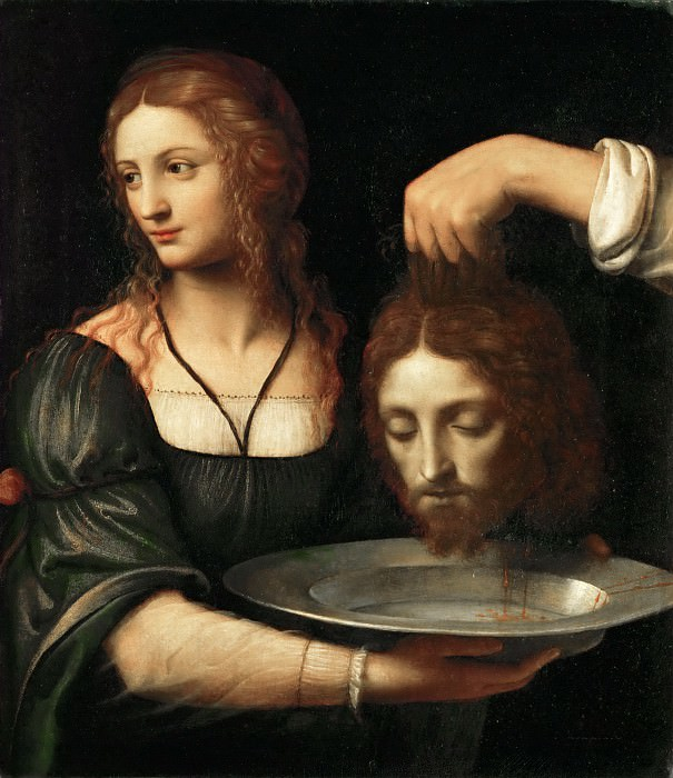 Bernardino Luini -- Salome receives the head of Saint John the Baptist. Part 4 Louvre