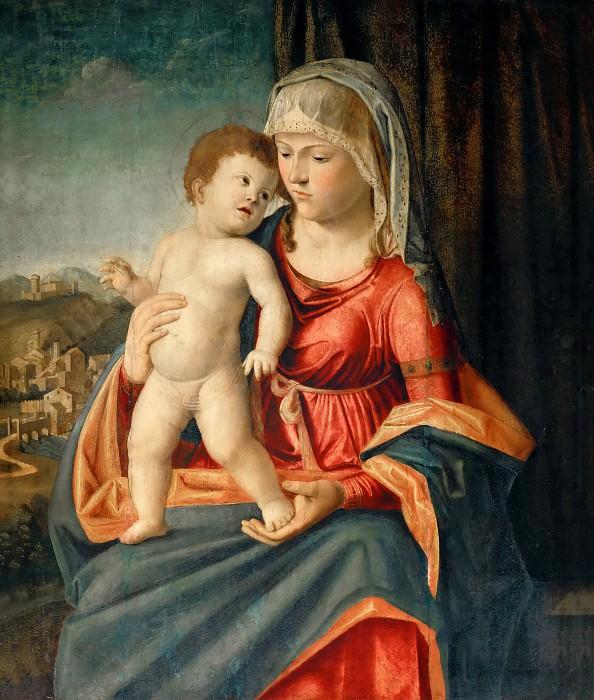 Чима, Джованни Баттиста (Конельяно 1459-60 - 1517-18) -- Мадонна с Младенцем. часть 4 Лувр