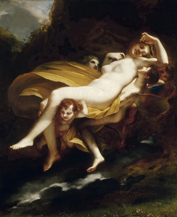 Pierre-Paul Prud'hon -- Abduction of Psyche. Part 4 Louvre