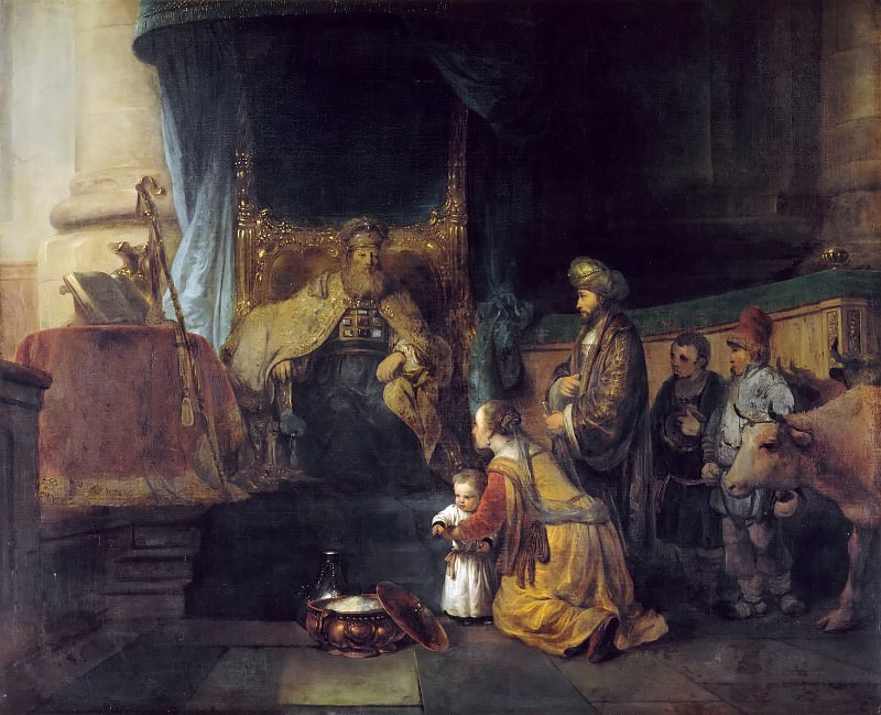 Gerbrand van den Eeckhout -- Hannah and her husband presenting their son Samuel to the High Priest Eli. Part 4 Louvre