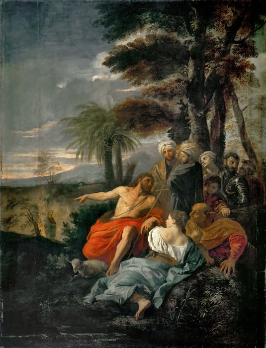 Pier Francesco Mola -- Saint John the Baptist preaching in the desert. Part 4 Louvre