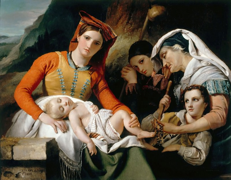 François-Joseph Navez -- Italian family, or Rest of the peasants in the countryside around Rome. Part 4 Louvre