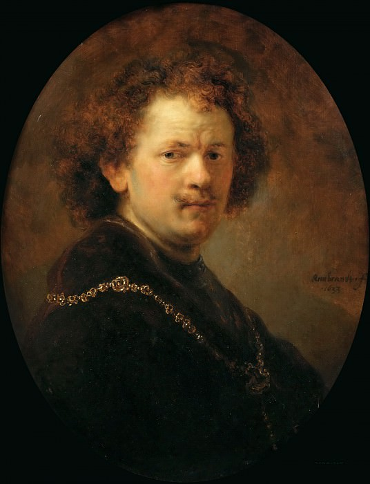 Rembrandt van Rijn -- Self Portrait. Part 4 Louvre