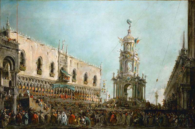 Гварди, Франческо (Венеция 1712-1793) -- Празднование Великого Четверга в Венеции. часть 4 Лувр