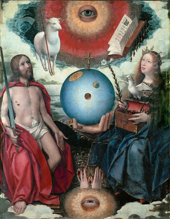 Jan Provoost (c. 1465-1529) -- Sacred Allegory. Part 4 Louvre