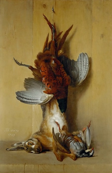 Jean-Baptiste Oudry -- Pheasant, Hare, and Red Partridge. Part 4 Louvre