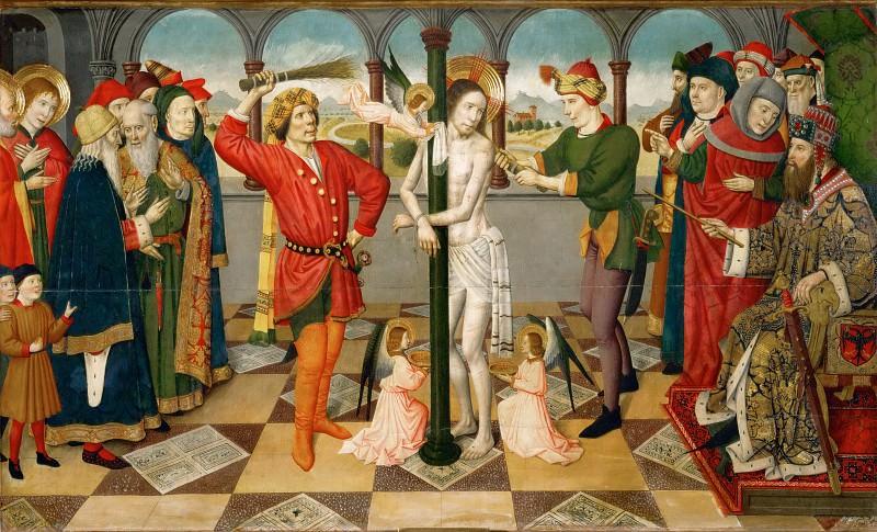 Jaime Huguet (1412-1492) -- Flagellation. Part 4 Louvre