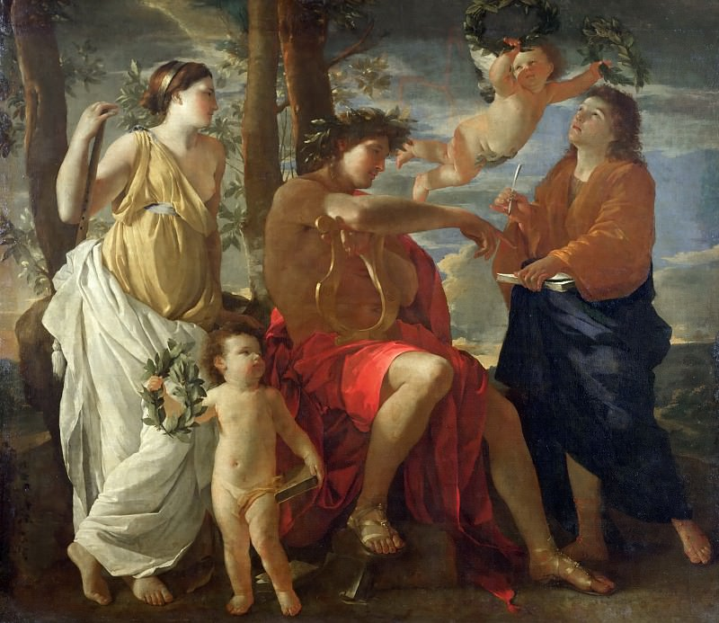 The Inspiration of the Poet. Nicolas Poussin