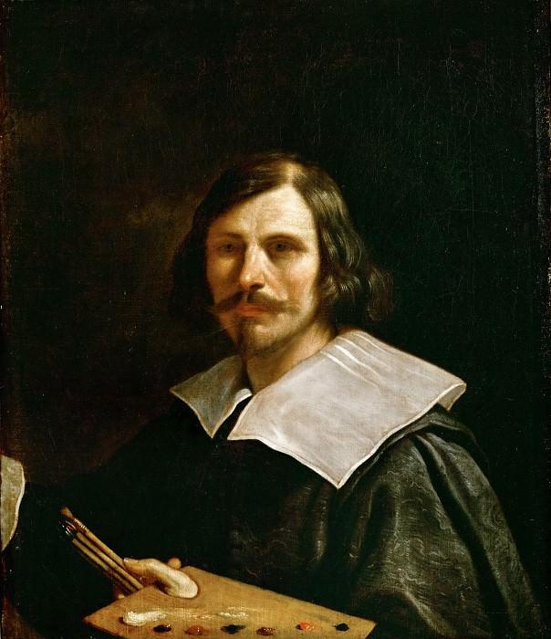 Guercino (1591-1666) -- Self-Portrait with Palette. Part 4 Louvre