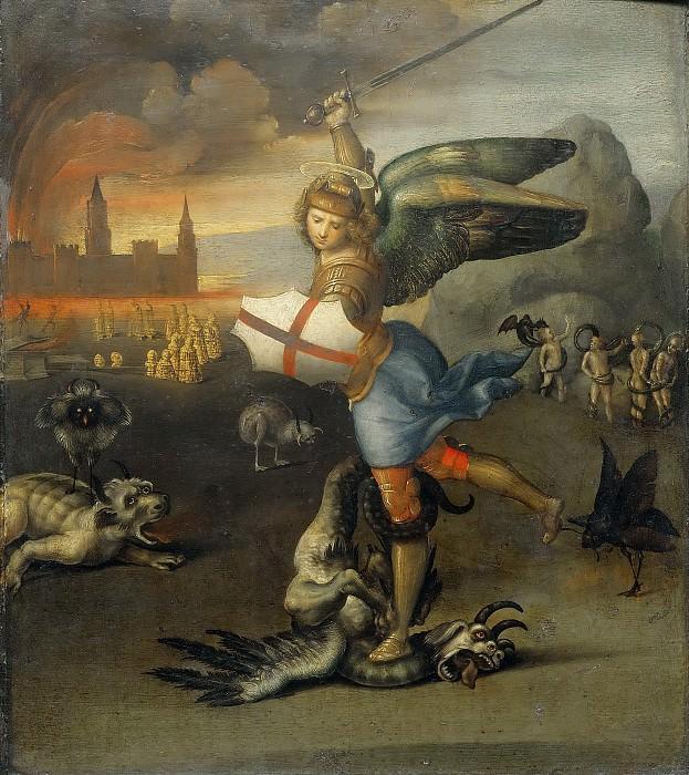 Святой Михаил и дракон. Рафаэль Санти