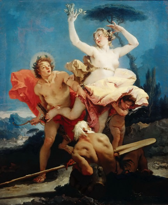 Giovanni Battista Tiepolo -- Apollo and Daphne. Part 4 Louvre