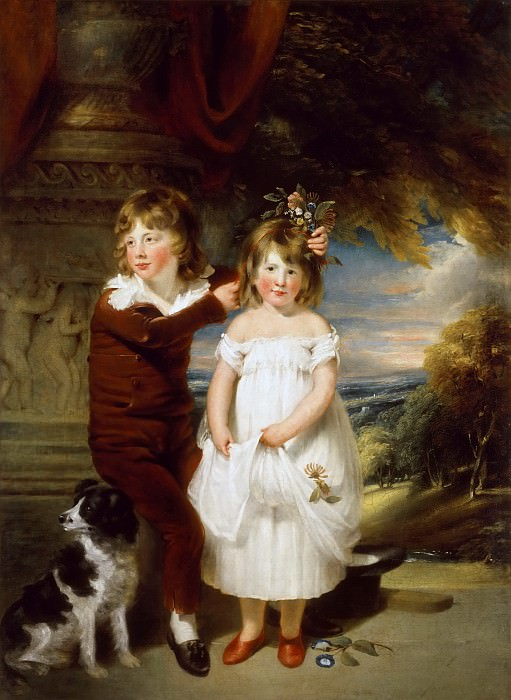 William Beechey -- Brother and Sister. Part 4 Louvre