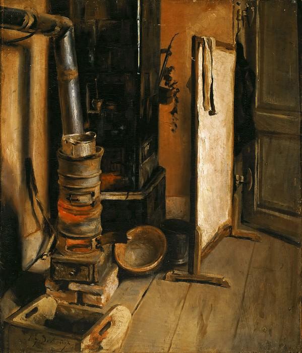 Делакруа, Эжен (1798 Шарантон-Сен-Морис - 1863 Париж) -- Уголок мастерской. Part 4 Louvre