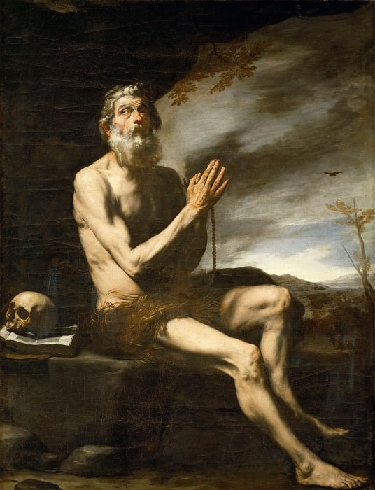 Jusepe de Ribera (1591-1652) -- Saint Paul the Hermit. Part 4 Louvre