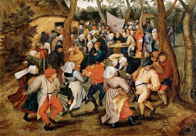 Pieter Brueghel II (1564/1565-1637/1638) -- Peasant Dance (Kermess). Part 4 Louvre