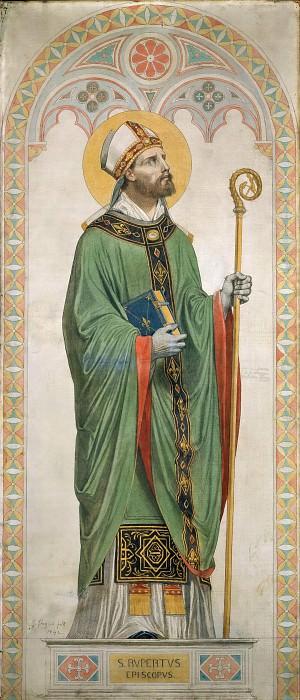 Saint Rupert, Bishop of Worms. Jean Auguste Dominique Ingres