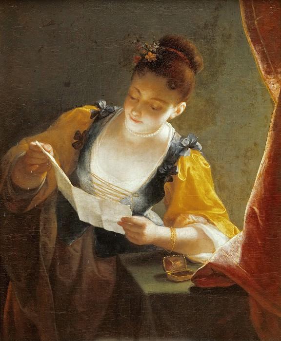 Jean Raoux -- Woman Reading a Letter. Part 4 Louvre