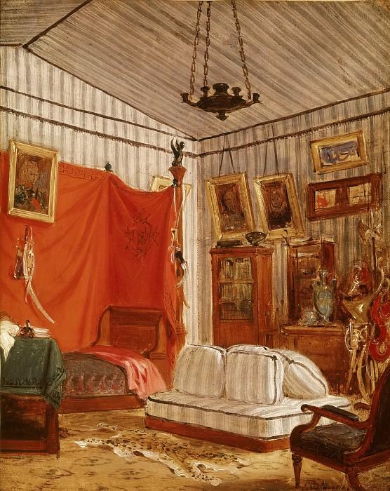 Делакруа, Эжен (1798 Шарантон-Сен-Морис - 1863 Париж) -- Спальня графа де Морне. часть 4 Лувр