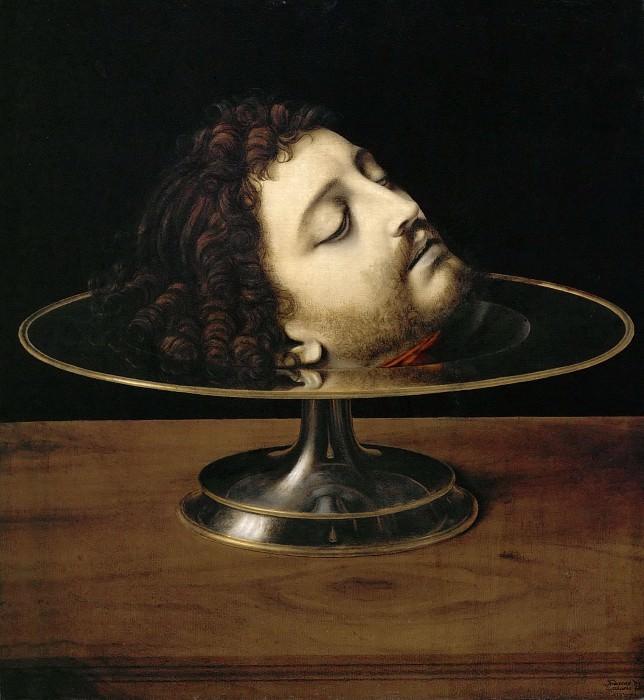 Andrea Solario -- Head of Saint John the Baptist. Part 4 Louvre