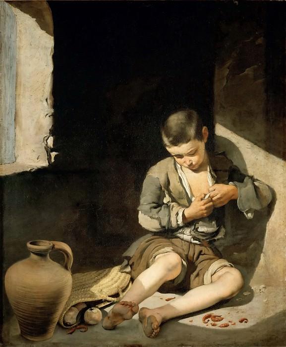 Мурильо, Бартоломе Эстебан (Севилья 1617-1682) -- Маленький нищий. часть 4 Лувр