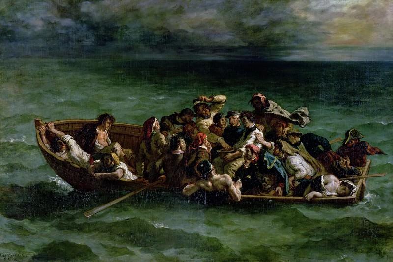 Делакруа, Эжен (1798 Шарантон-Сен-Морис - 1863 Париж) -- Кораблекрушение дона Жуана. Part 4 Louvre
