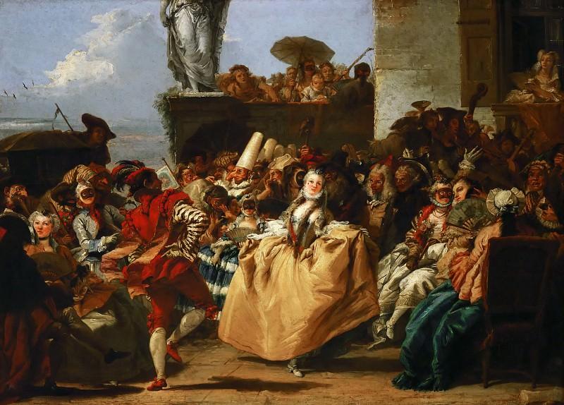 Тьеполо, Джованни Доменико (Венеция 1727-1804) -- Сцена карнавала, или Менуэт. часть 4 Лувр