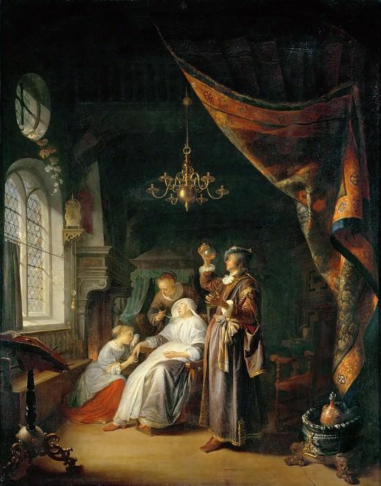Доу, Геррит (Лейден 1613-1675) -- Визит доктора Женщина, страдающая водянкой. часть 4 Лувр