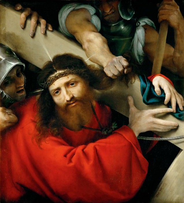 Lorenzo Lotto -- Carrying the Cross. Part 4 Louvre