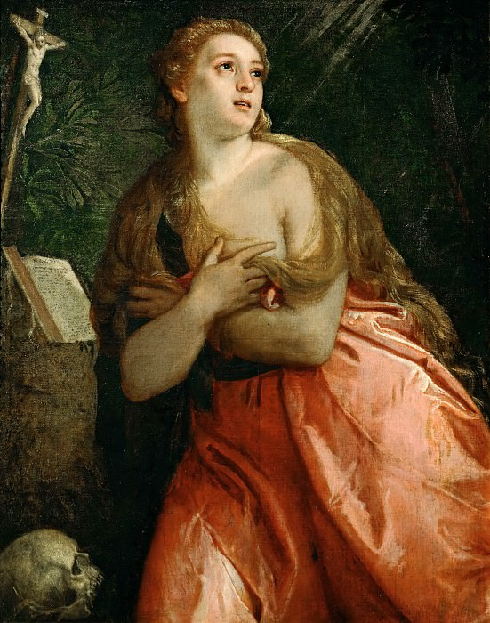 Paolo Veronese -- Mary Magdalen Penitent. Part 4 Louvre
