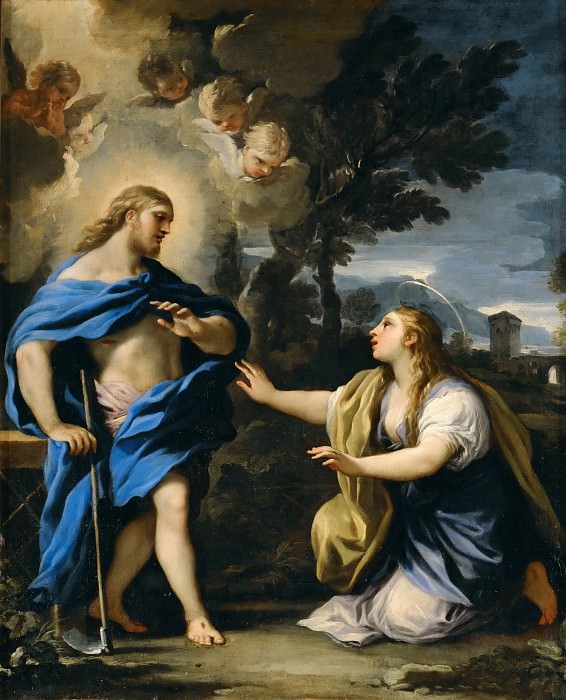 Luca Giordano -- Christ Appears to the Magdalene. Part 4 Louvre