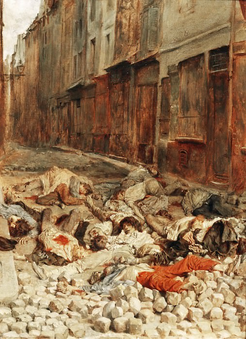 Jean Louis Ernest Meissonier -- The barricade in rue Mortellerie, Paris, June 1848. Part 4 Louvre