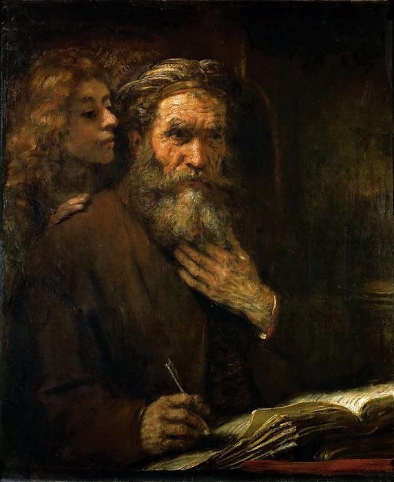 Rembrandt van Rijn -- Saint Matthew and the Angel. Part 4 Louvre