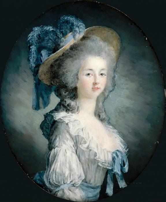 Joseph Boze -- Portrait of Marie Louise of Savoy (Marie-Thérèse Louise de Savoie-Carignan, Princesse de Lamballe). Part 4 Louvre