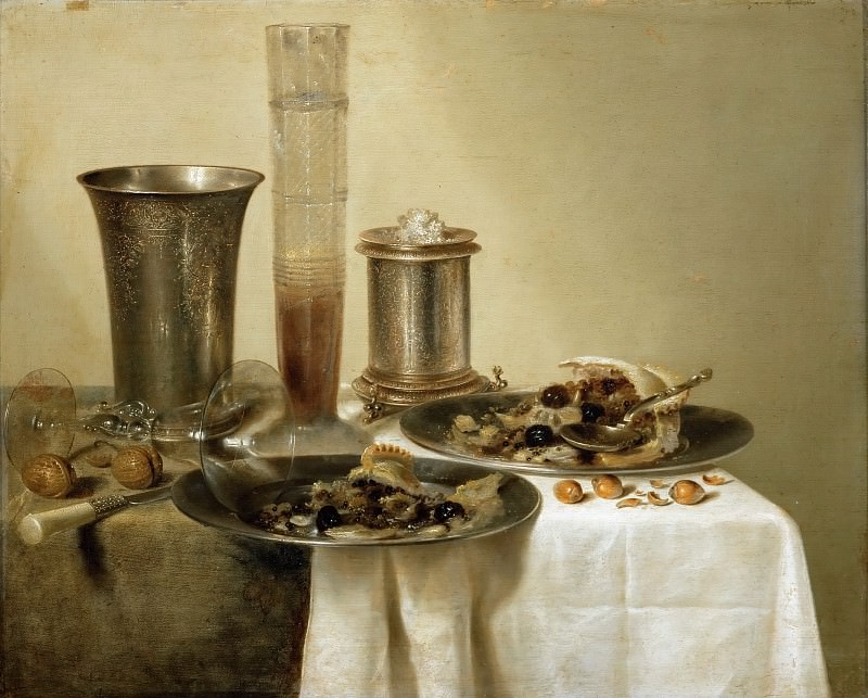 Willem Claesz. Heda (1594-1680) -- Still Life with Silver Goblets. Part 4 Louvre