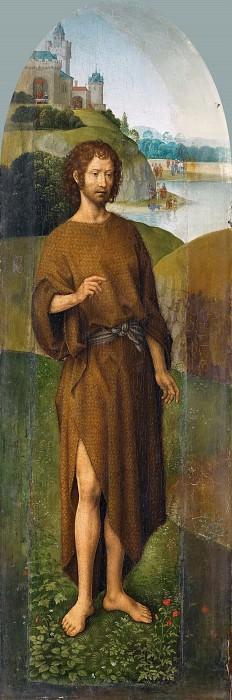Мемлинг, Ханс (ок1435 Зелигенштадт - 1494 Брюгге) -- Триптих Отдых на пути в Египет со святыми Иоанном Крестителем и Марией Магдалиной, левая створка. часть 4 Лувр