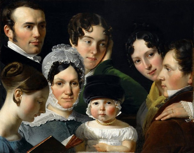 Claude-Marie Dubufe -- The Dubufe family in 1820. Part 4 Louvre