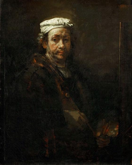 Rembrandt van Rijn -- Rembrandt at the Easel. Part 4 Louvre