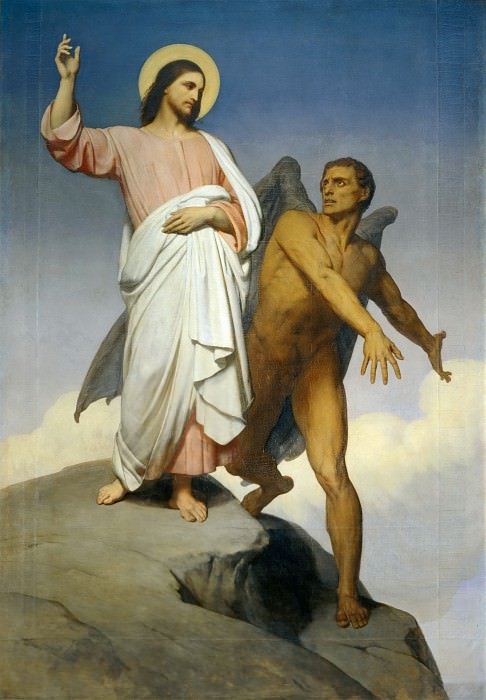 Ary Scheffer (1795-1858) -- Christ Tempted by the Devil. Part 4 Louvre