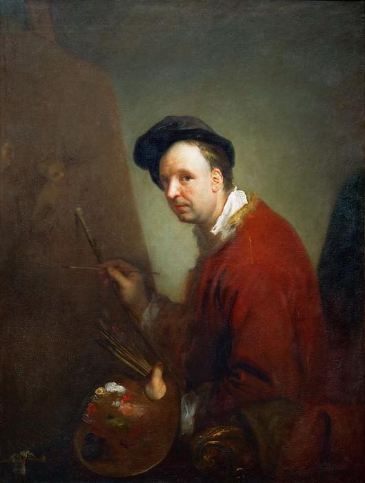 Пэн, Антуан (1683 Париж - 1757 Берлин) -- Портрет художника Никола Влёгеля. часть 4 Лувр