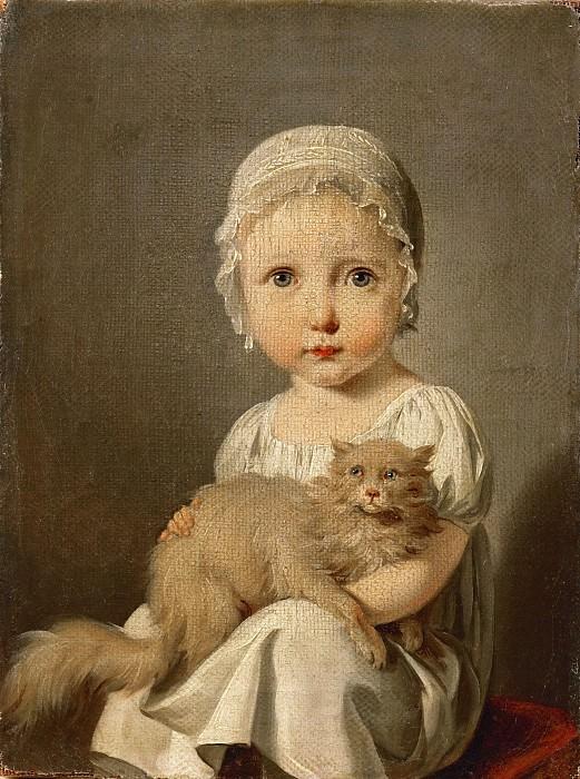 Louis Léopold Boilly (1761-1845) -- Gabrielle Arnault as a Child. Part 4 Louvre