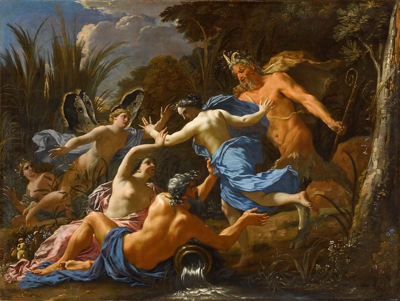 Michel Dorigny -- Pan and Syrinx. Part 4 Louvre