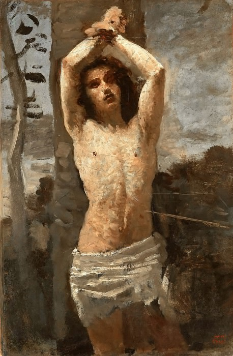 Jean-Baptiste-Camille Corot -- Saint Sebastian. Part 4 Louvre
