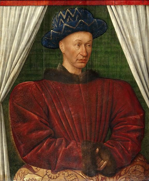 Фуке, Жан (Тур ок1420 - ок1480) -- Портрет Карла VII, короля Франции. часть 4 Лувр