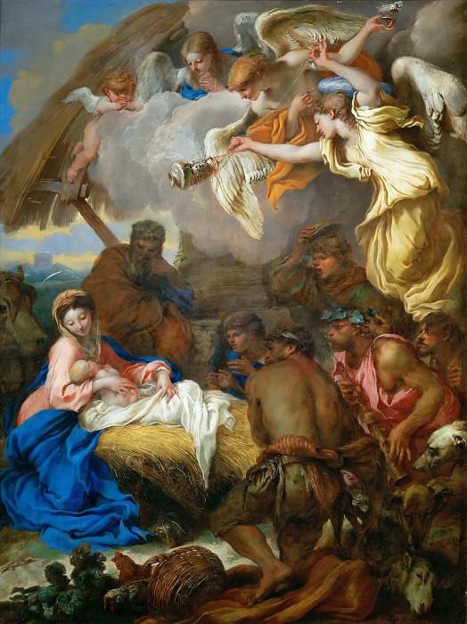 Giovanni Benedetto Castiglione (1609-1664) -- Adoration of the Shepherds. Part 4 Louvre