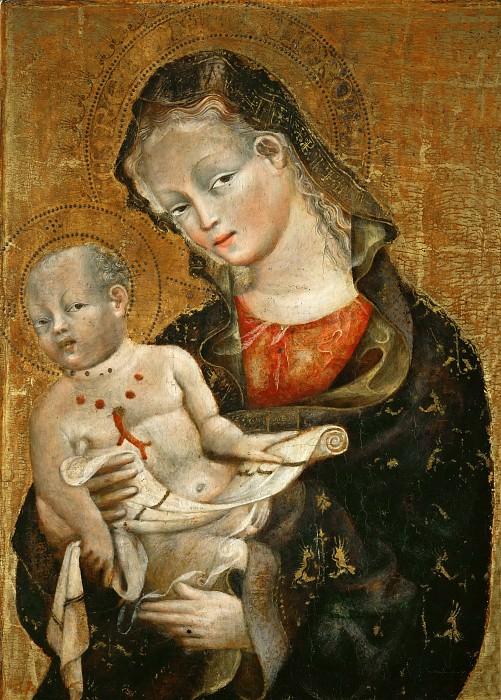 Джованни да Модена (Джованни ди Пьетро Фаллоппи) (работал в 1409-56 в Болонье) -- Мадонна с Младенцем. часть 4 Лувр