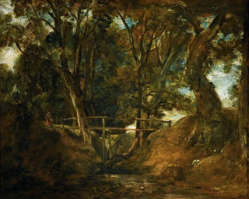 Констебл, Джон (1776 Ист Бергхолт - 1837 Хэмпстид) -- Хелмингемская лесная лощина, Суффолк. часть 4 Лувр