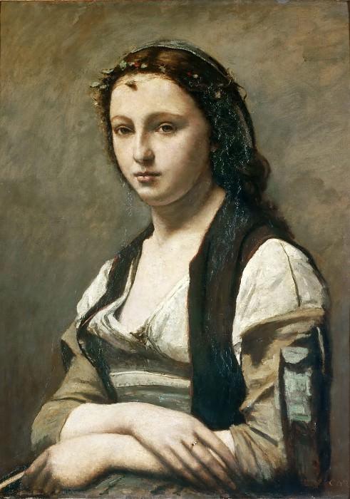 Коро, Жан-Батист-Камиль (Париж 1796-1875) -- Женщина с жемчужиной. Part 4 Louvre