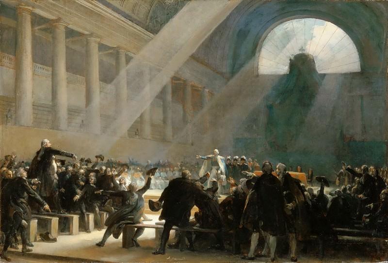 Alexandre-Evariste Fragonard -- Mirabeau and Dreux-Brézé. Part 4 Louvre