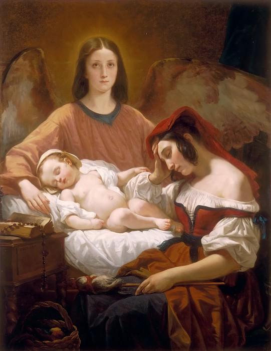 Декен, Анри (1799 Брюссель - 1852 Париж) -- Ангел-Хранитель. часть 4 Лувр