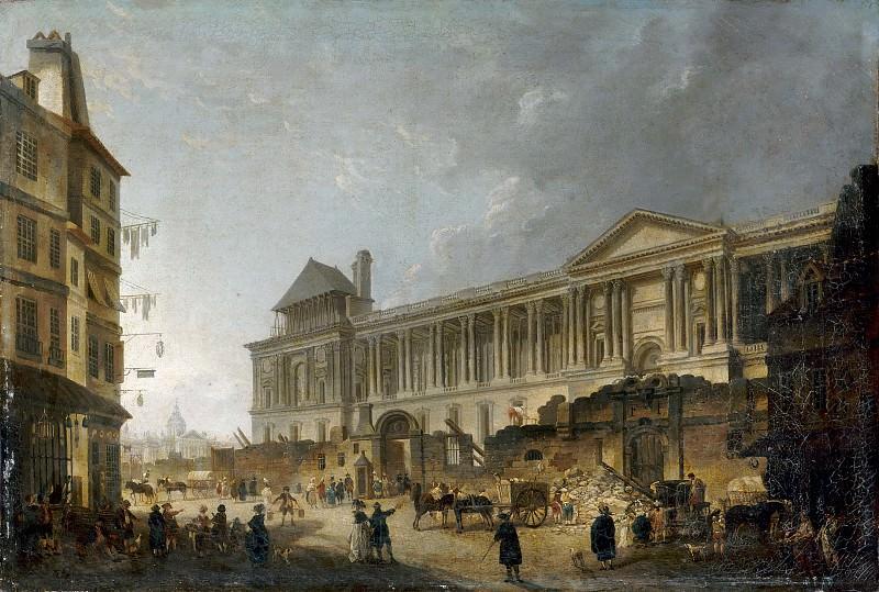 Pierre Antoine de Machy -- View of the Louvre colonnade. Part 4 Louvre